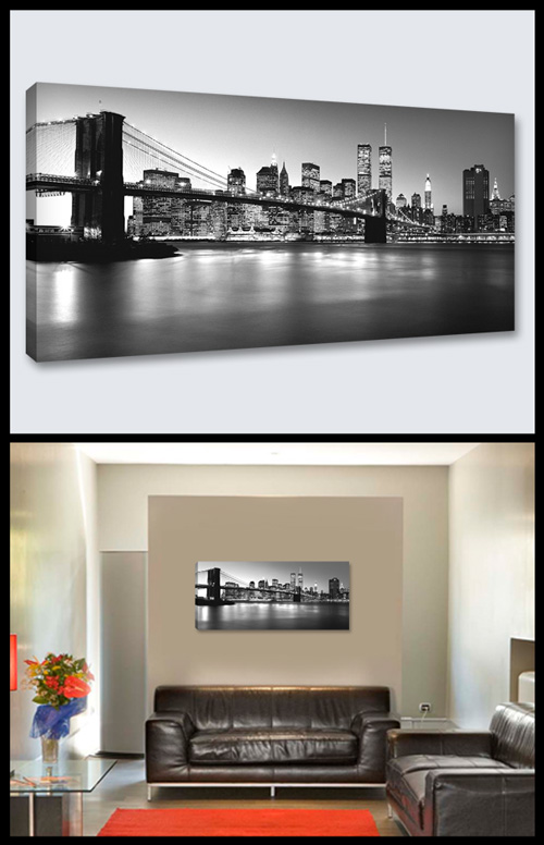 NEW YORK SKYLINE b/n (1 pz. cm 90x40)