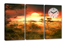 AFRICAN SUNSET 4 (con orologio)