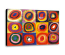 KANDINSKY - COLOR STUDY (squares with concentric rings)